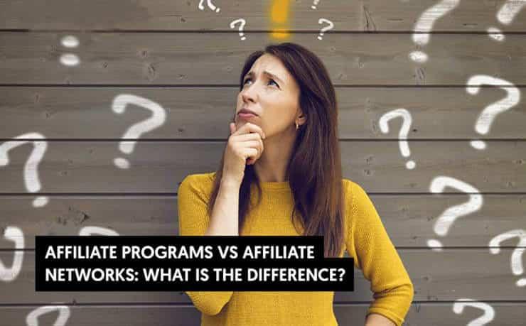 affiliate program vs affiliate network