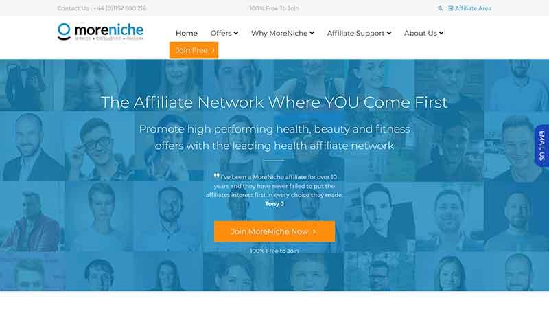 moreniche-homepage